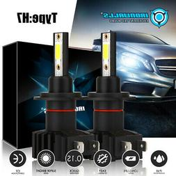 4 Sides CREE H7 2400W 360000LM LED Headlight Kit High or Lo