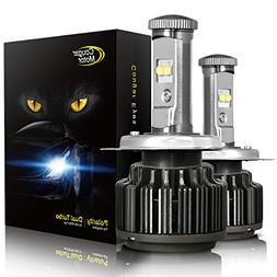 Cougar Motor H4 LED Headlight Bulbs, 9003 High/Low All-in-On