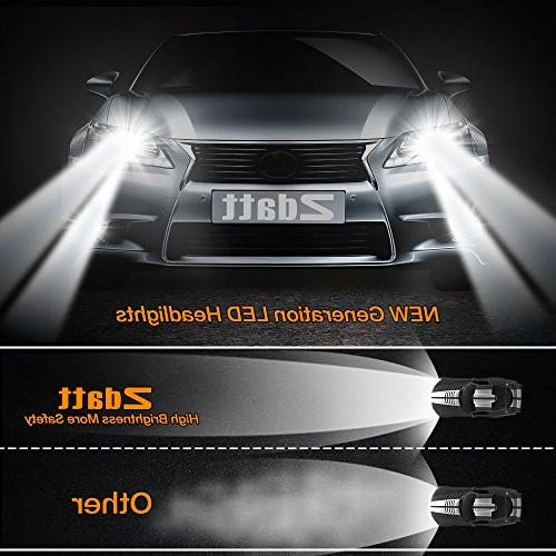 Zdatt 100W HB4 LED Headlight 360 Low Bulbs Conversion Kits Driving Lamps Replacement-Amber /Blue-2 Yr Warranty