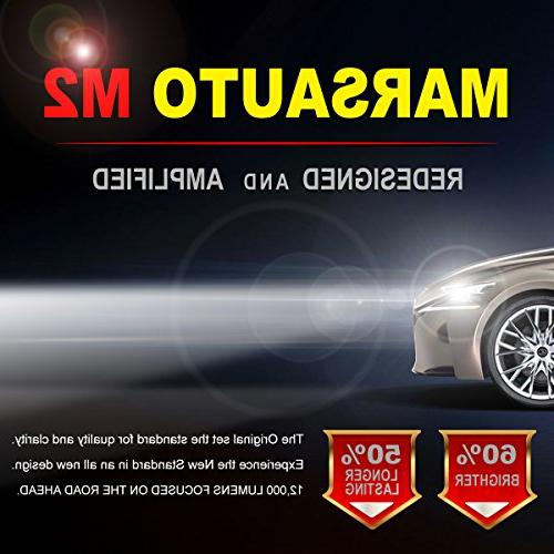 9007/HB5 Bulbs, Marsauto 12000LM Super Led Beam CANbus-Ready 2-Pack