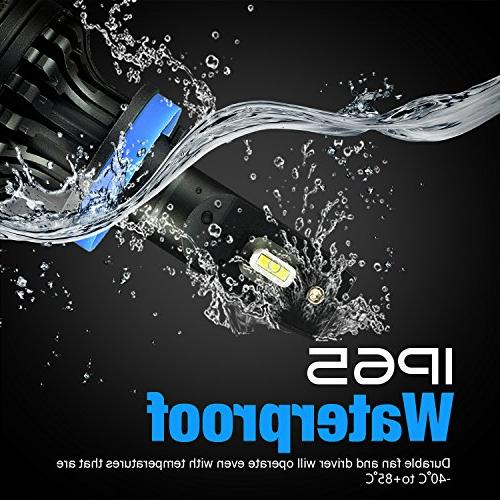 JDM ASTAR Newest T1 Bright H9 All-in-One Headlight Conversion Kit, Xenon White