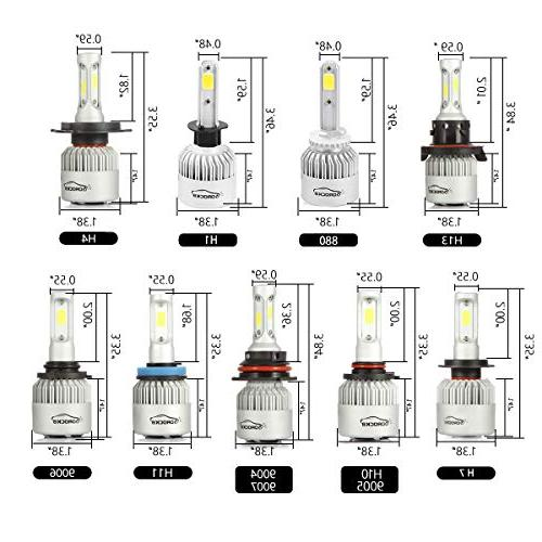VoRock8 9006 HB4 8000LM Headlight Conversion Kit, Low Beam Light, Replacement, 6500K White, 1 Year Warranty