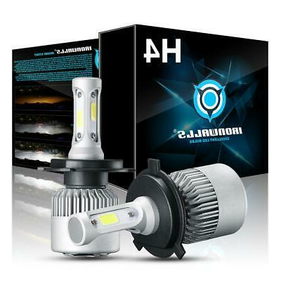 pair h4 9003 hb2 led headlight bulbs